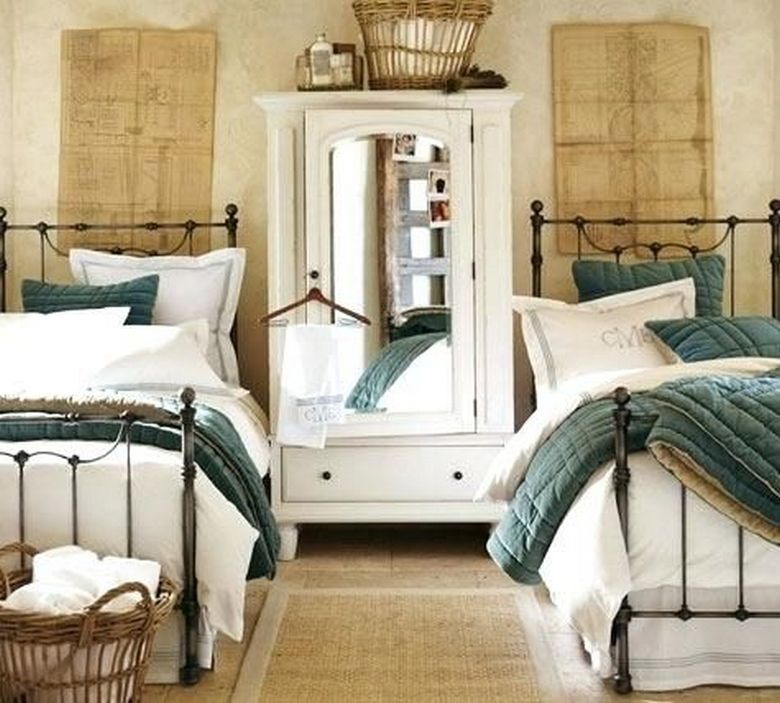 85 Master Bedroom Decoration Models With Two Beds Feel Comfortable In Use 6
