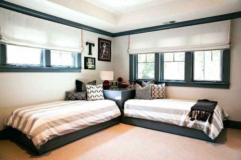 85 Master Bedroom Decoration Models With Two Beds Feel Comfortable In Use 7