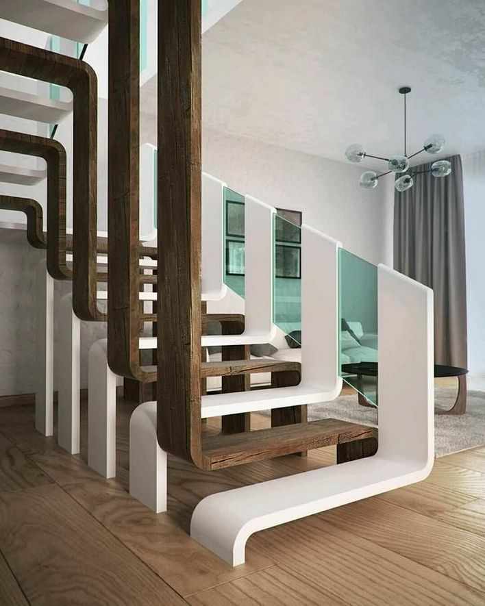 95 Cool Modern Staircase Designs For Homes (85)