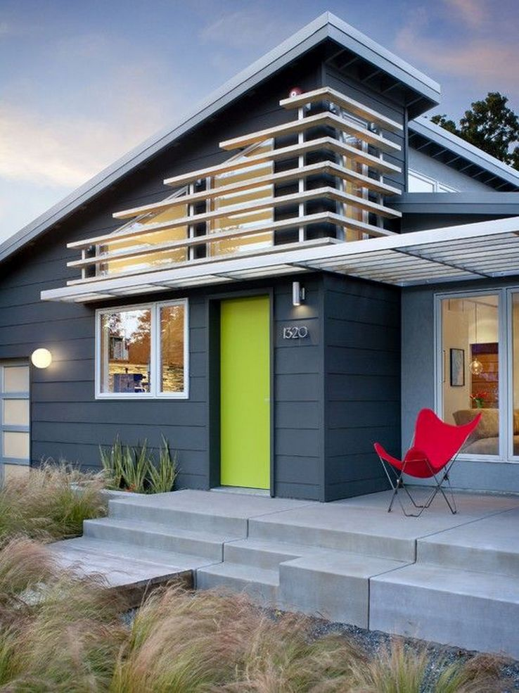 89 Models Beautiful Modern Exterior House Paint 28