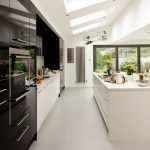 Beautifull Totally Modern Black And White Kitchen 10