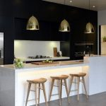 Beautifull Totally Modern Black And White Kitchen 12