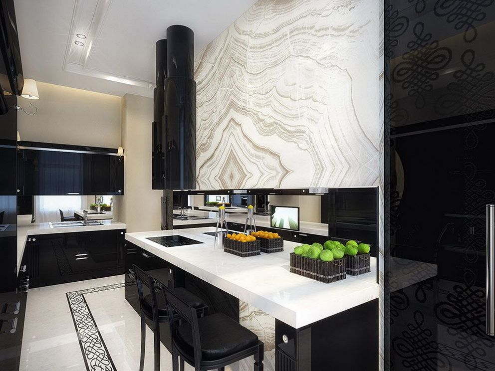 Beautifull Totally Modern Black And White Kitchen 24