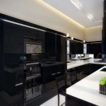 Beautifull Totally Modern Black And White Kitchen 26