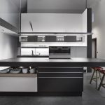 Beautifull Totally Modern Black And White Kitchen 28