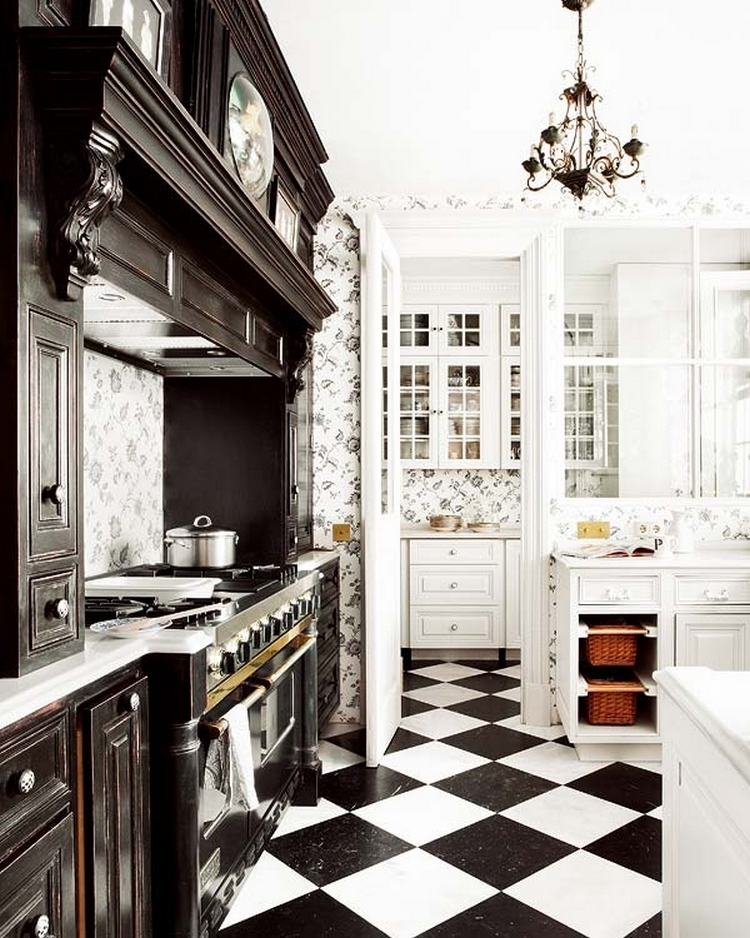 Tips For Creating Beautiful Black Or White Retro Themed Kitchens 28