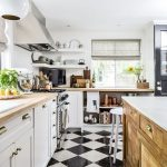 Tips For Creating Beautiful Black Or White Retro Themed Kitchens 59