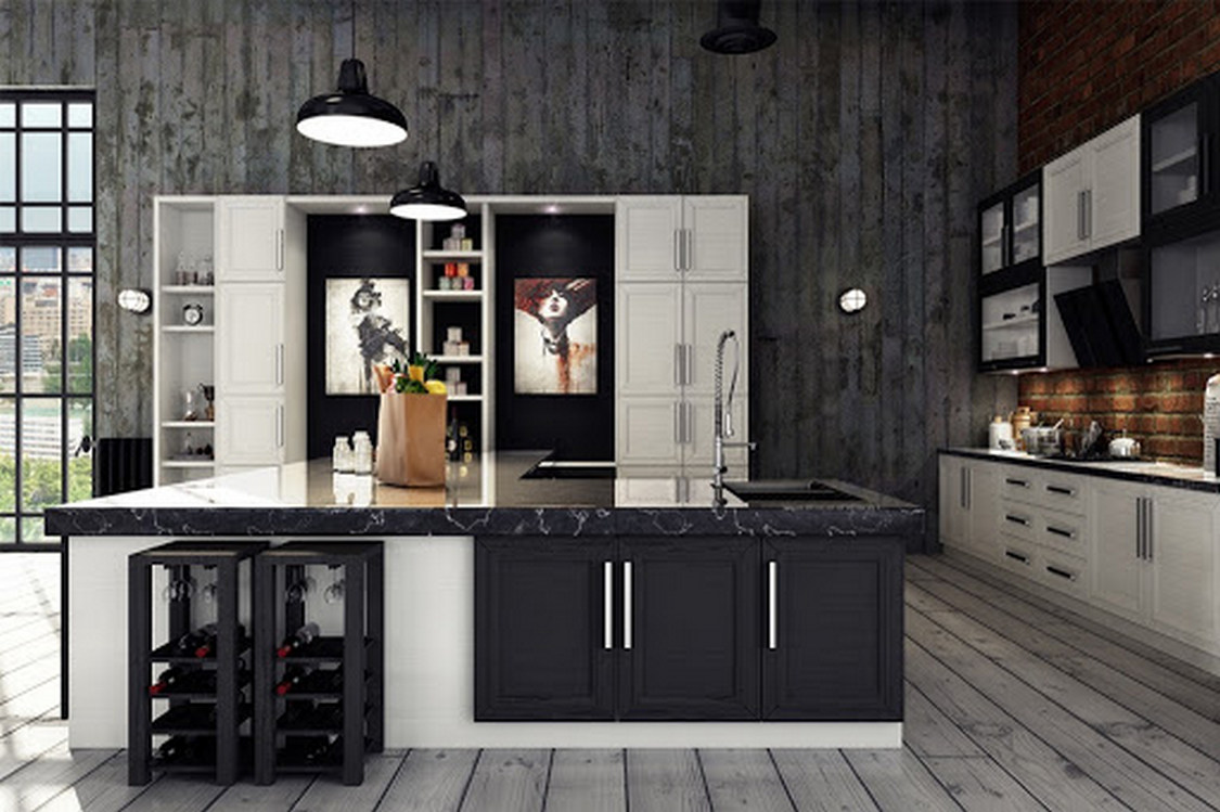 Tips For Creating Beautiful Black Or White Retro Themed Kitchens 66