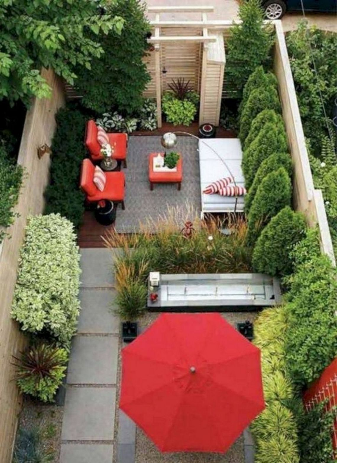 91 Small Backyard Landscape Decoration Models Are Simple And Look Creative 52