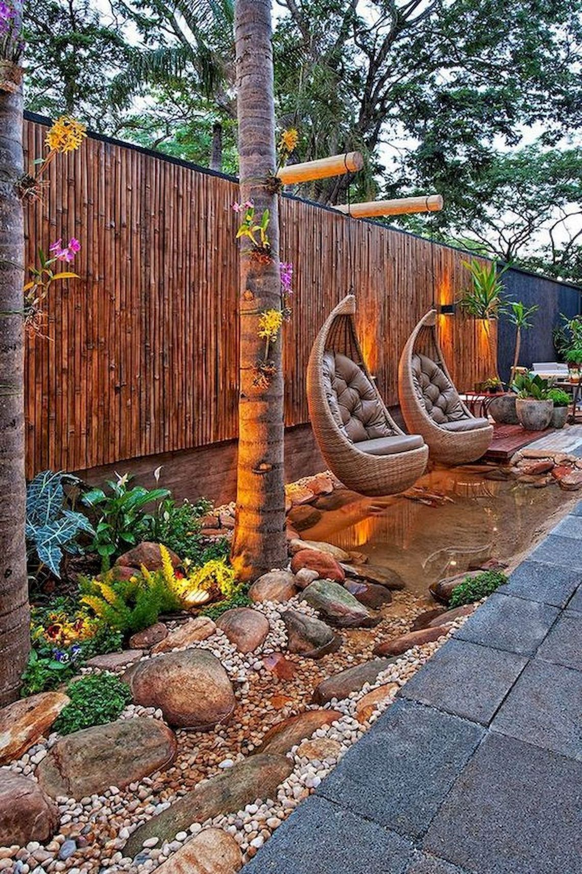 91 Small Backyard Landscape Decoration Models Are Simple And Look Creative 62