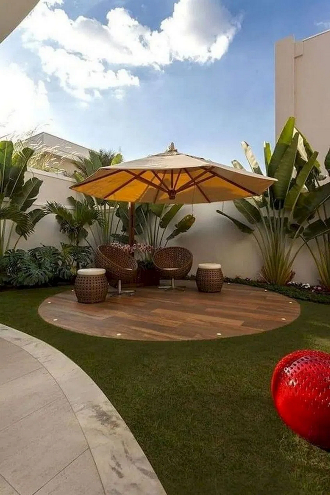 91 Small Backyard Landscape Decoration Models Are Simple And Look Creative 87