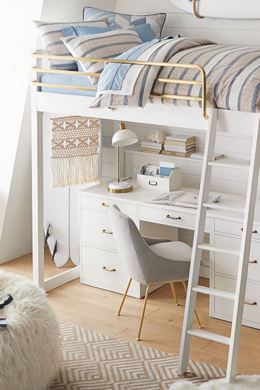 on Bunk Bed with Desk and Drawers id=15672