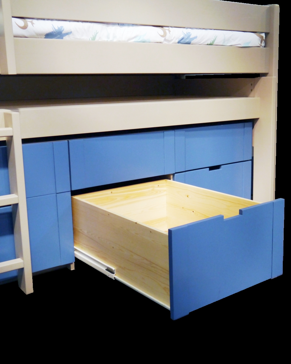 Magnificent Bunk Bed with Desk and Drawers On