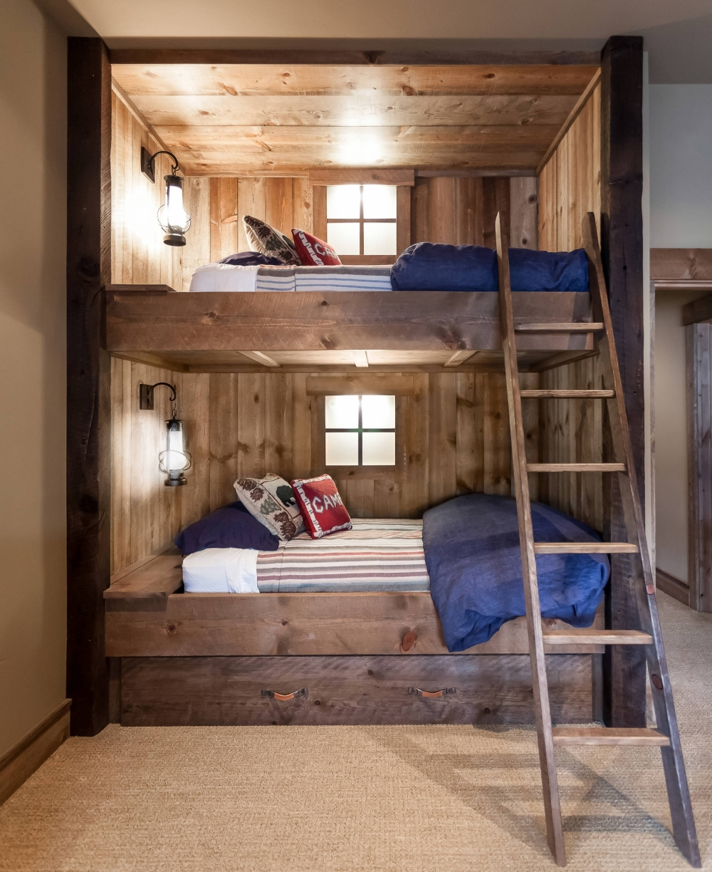 Incredible Bunk Bed with Desk and Drawers On