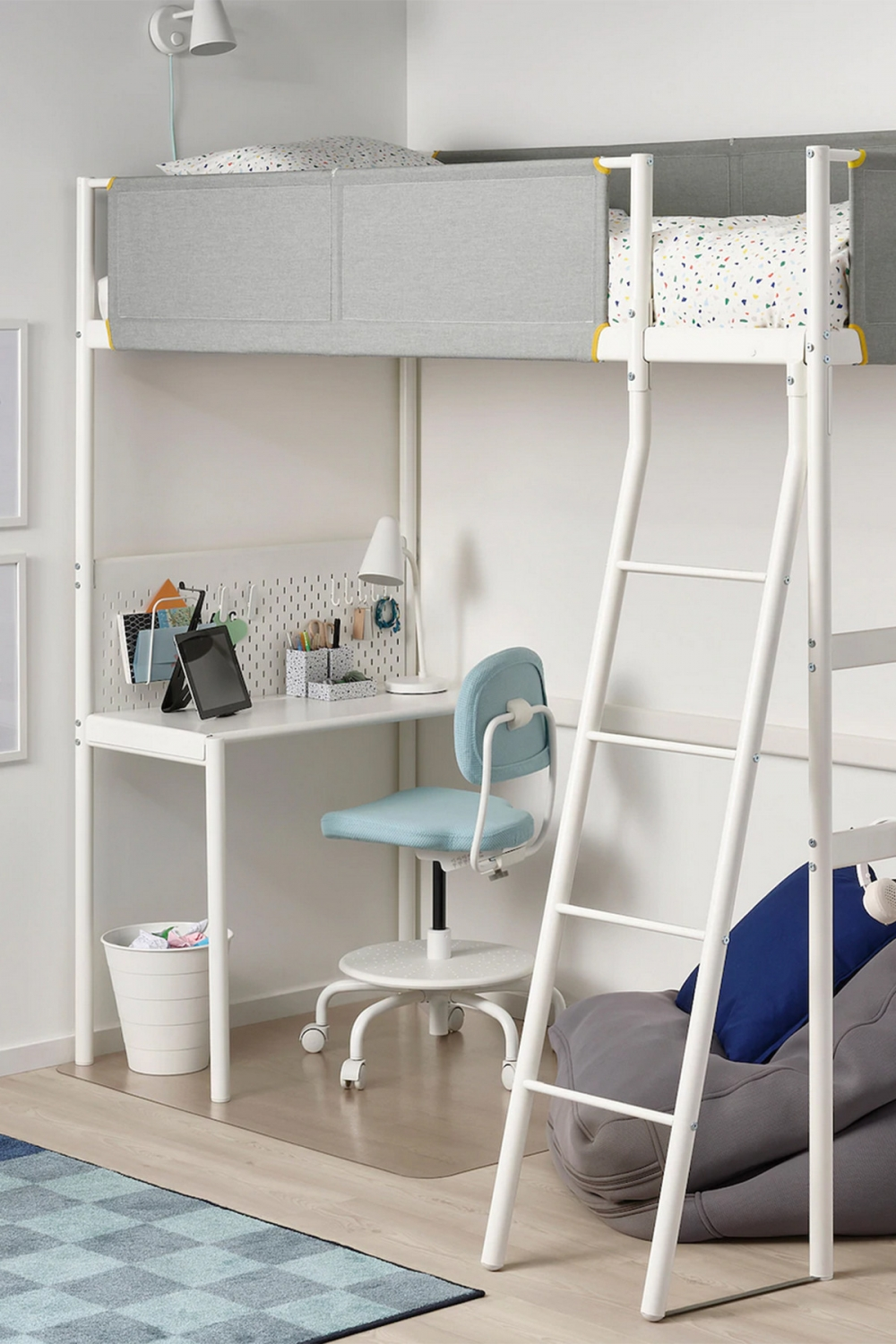 on Bunk Bed with Desk and Drawers id=15667