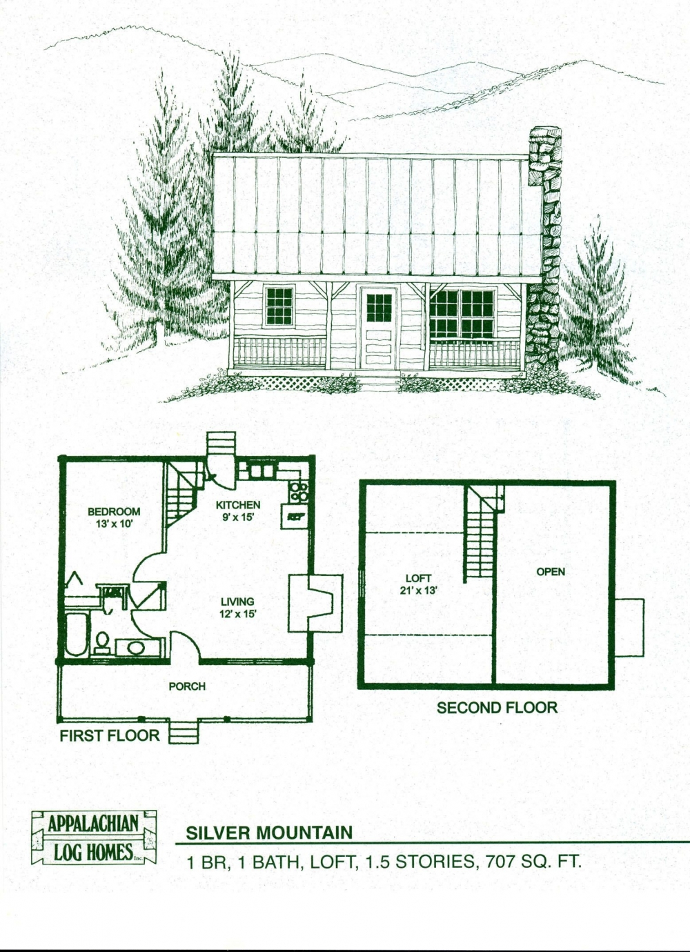 Small Cabin Floor Plans with Loft