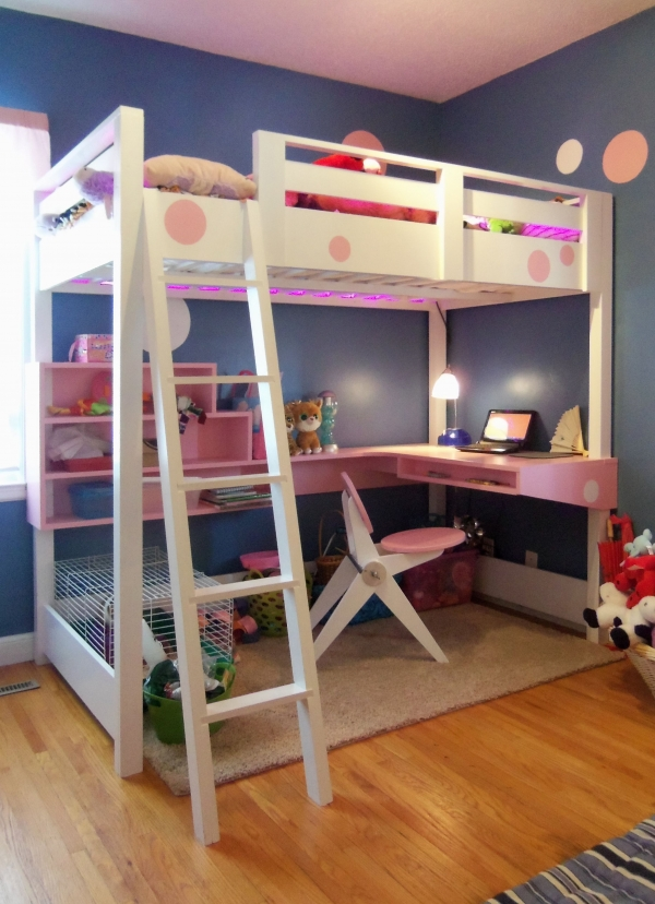 on Bunk Bed with Desk for Girl id=16118