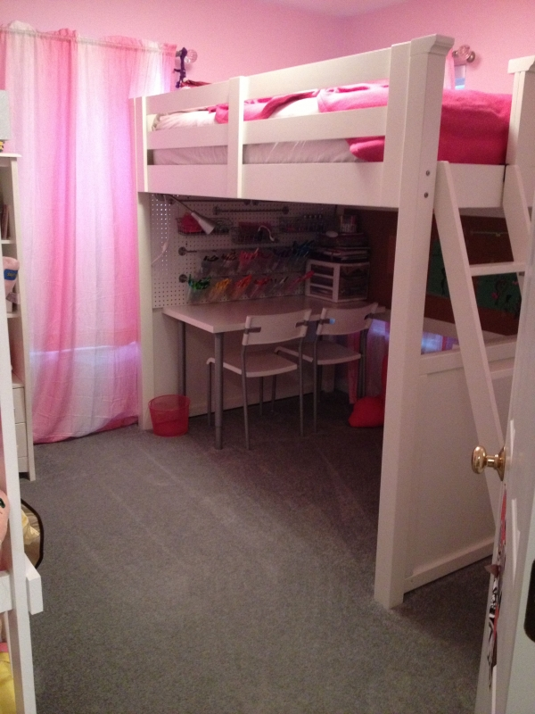 on Bunk Bed with Desk for Girl id=16127