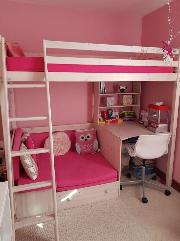 on Bunk Bed with Desk for Girl id=16128