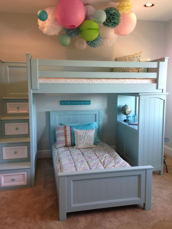 on Bunk Bed with Desk for Girl id=16130