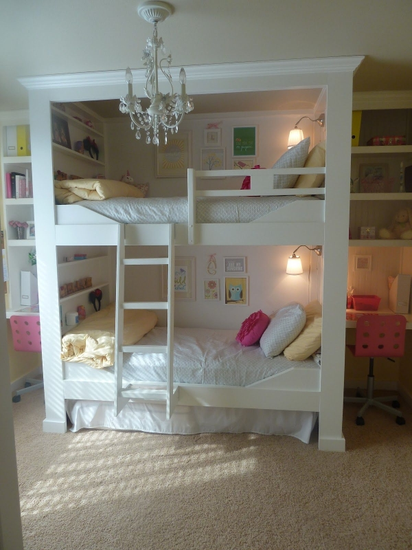 on Bunk Bed with Desk for Girl id=16132