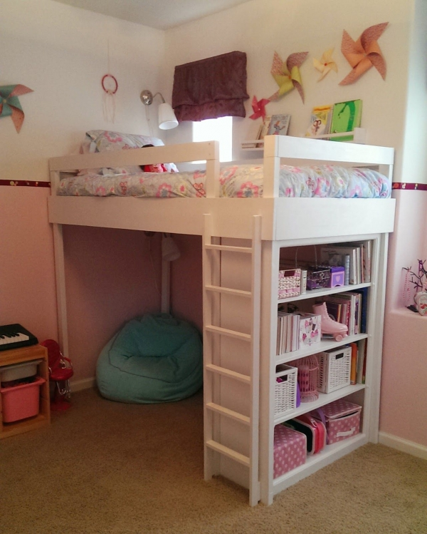 on Bunk Bed with Desk for Girl id=16139