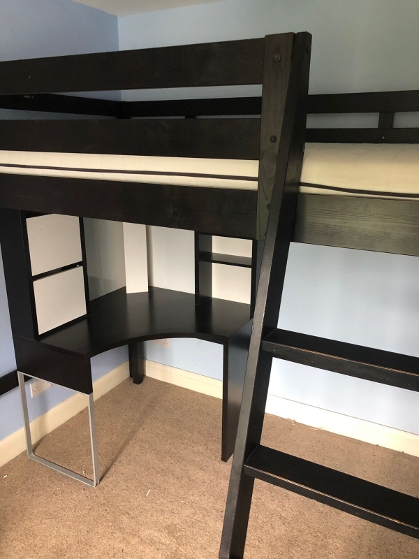 Appealing Bunk Bed with Desk for Girl On