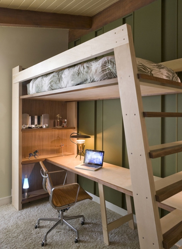 Incredible Bunk Bed with Desk for Girl On