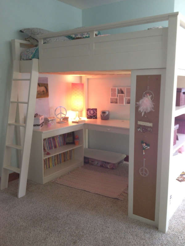 on Bunk Bed with Desk for Girl id=16120