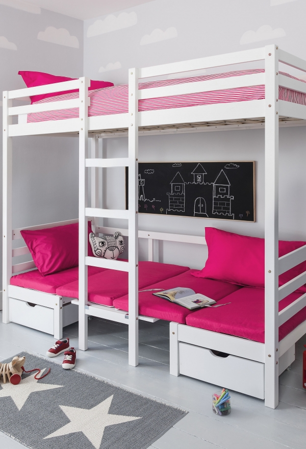 on Bunk Bed with Desk for Girl id=16121
