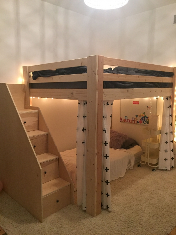 on Bunk Bed with Desk for Girl id=16124