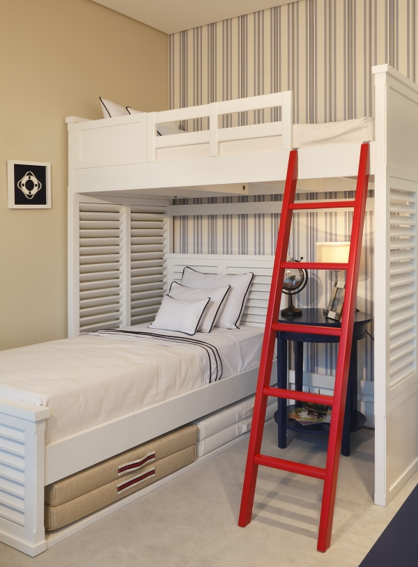 Stupendous Bunk Beds with Desk Underneath On