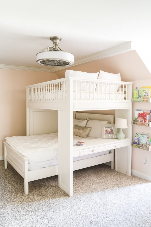 Lovely Bunk Beds with Desk Underneath On