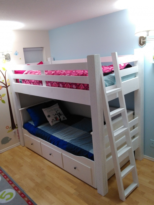 Impressive Bunk Beds with Desk Underneath On