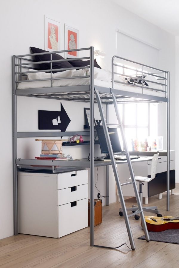 Pleasing Bunk Beds with Desk Underneath On