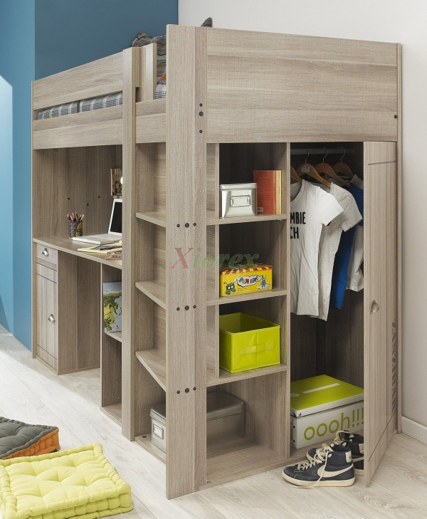 on Loft Bed with Desk and Storage id=16028