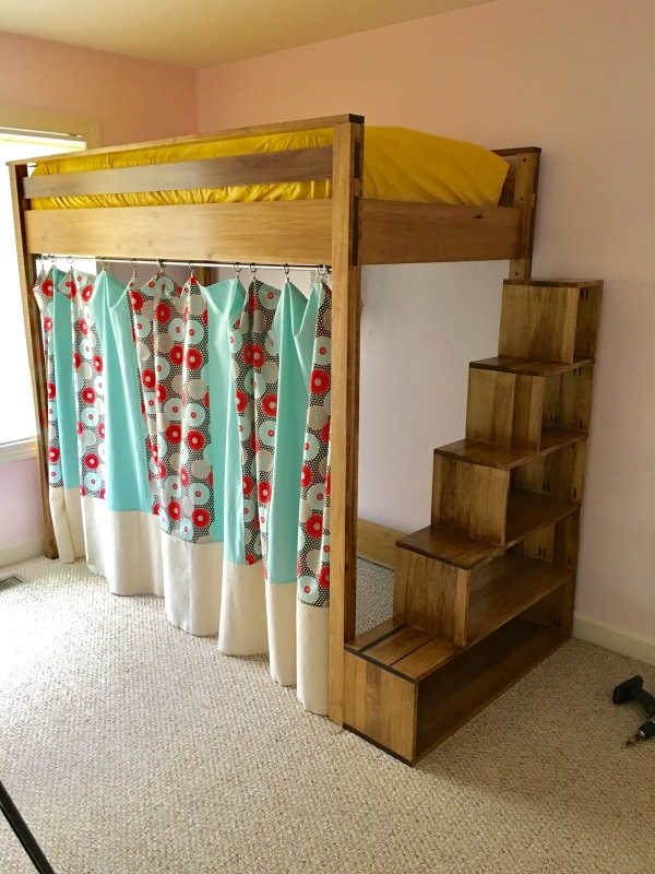 on Loft Bed with Desk and Storage id=16039