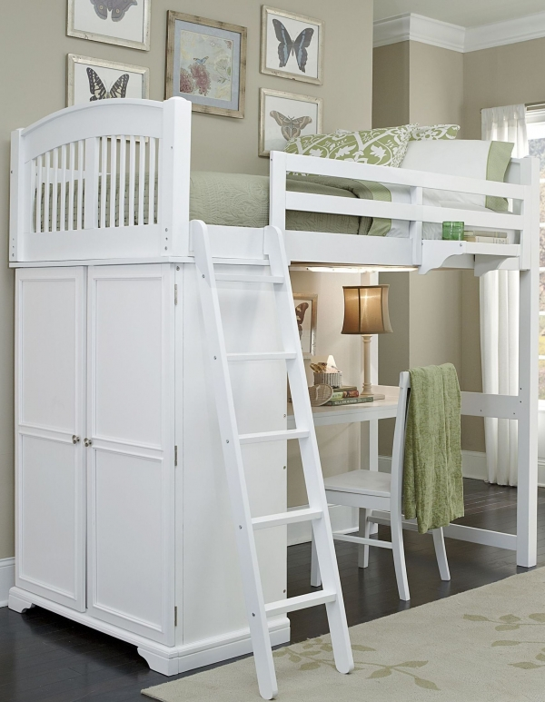 on Loft Bed with Desk and Storage id=16029