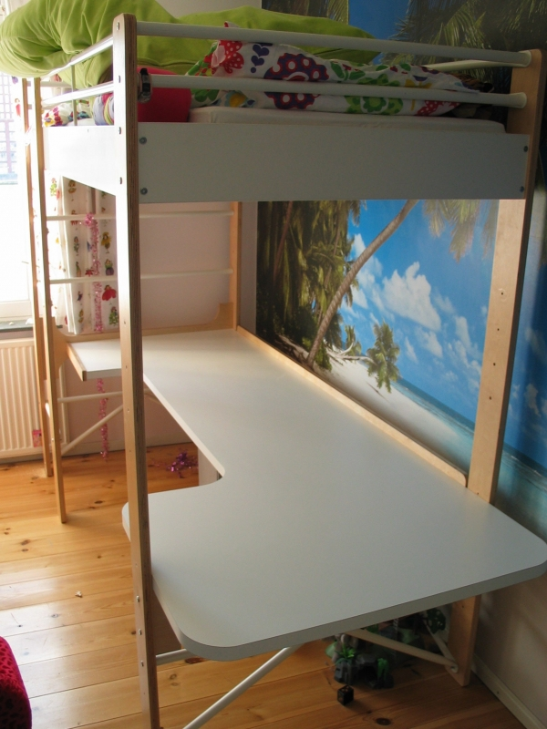 on Loft Bed with Desk and Storage id=16047