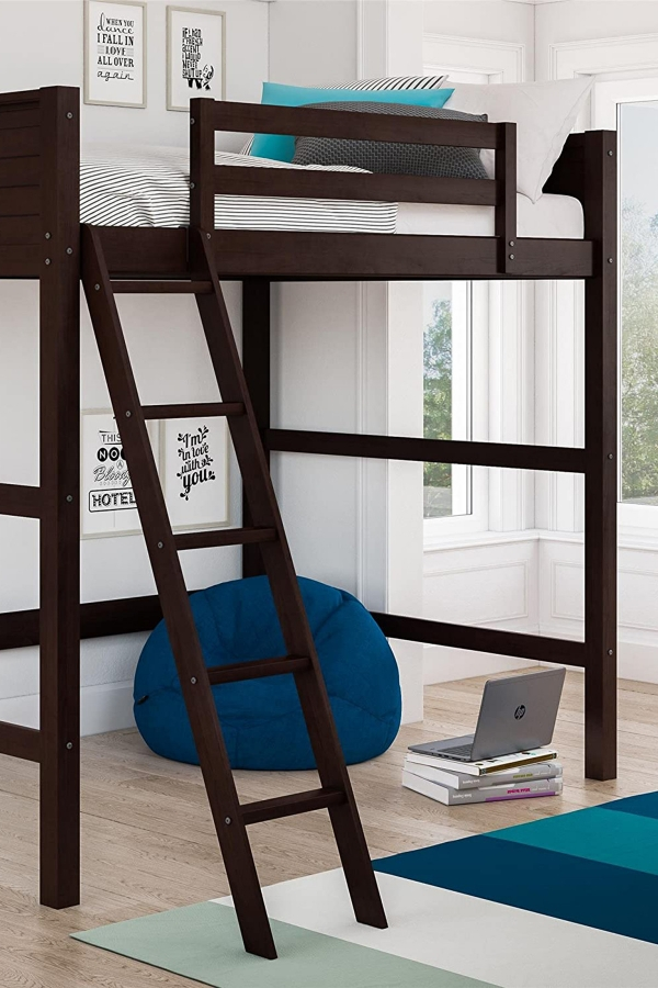 on Loft Bed with Desk and Storage id=16056