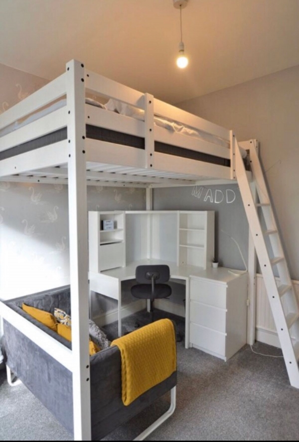 on Loft Bed with Desk and Storage id=16031