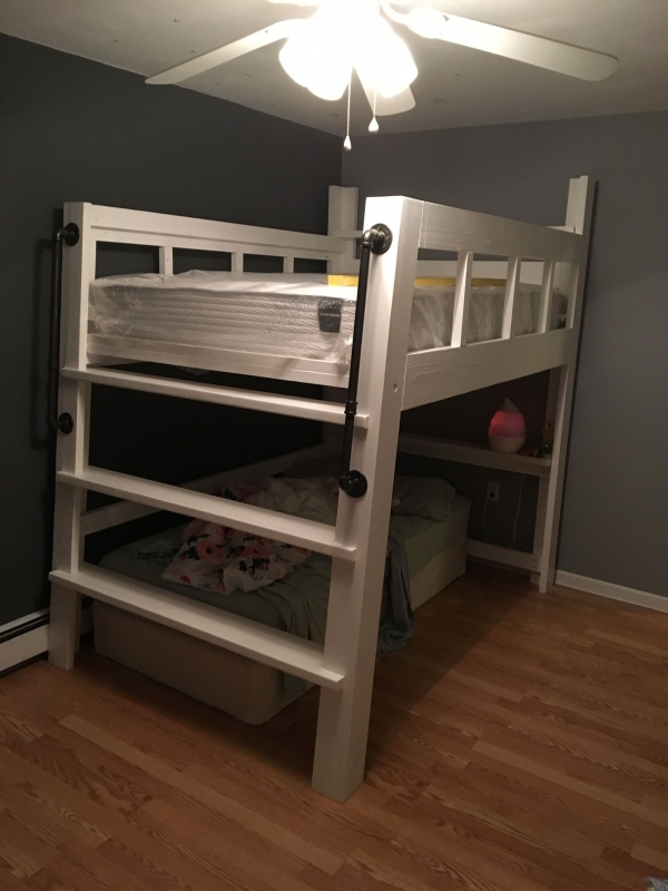 on Loft Bed with Desk and Storage id=16033