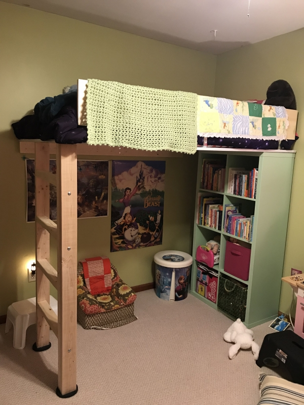on Loft Bed with Desk and Storage id=16034