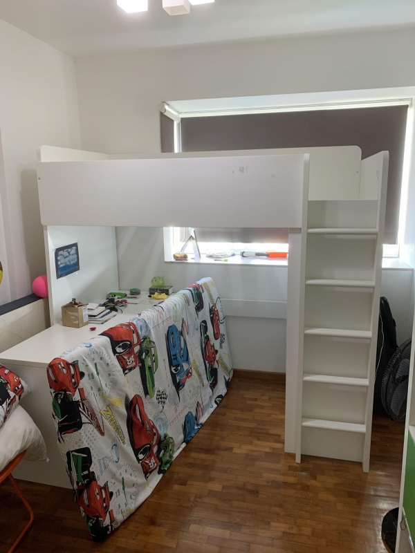 Decorative Loft Bed with Desk Ikea On