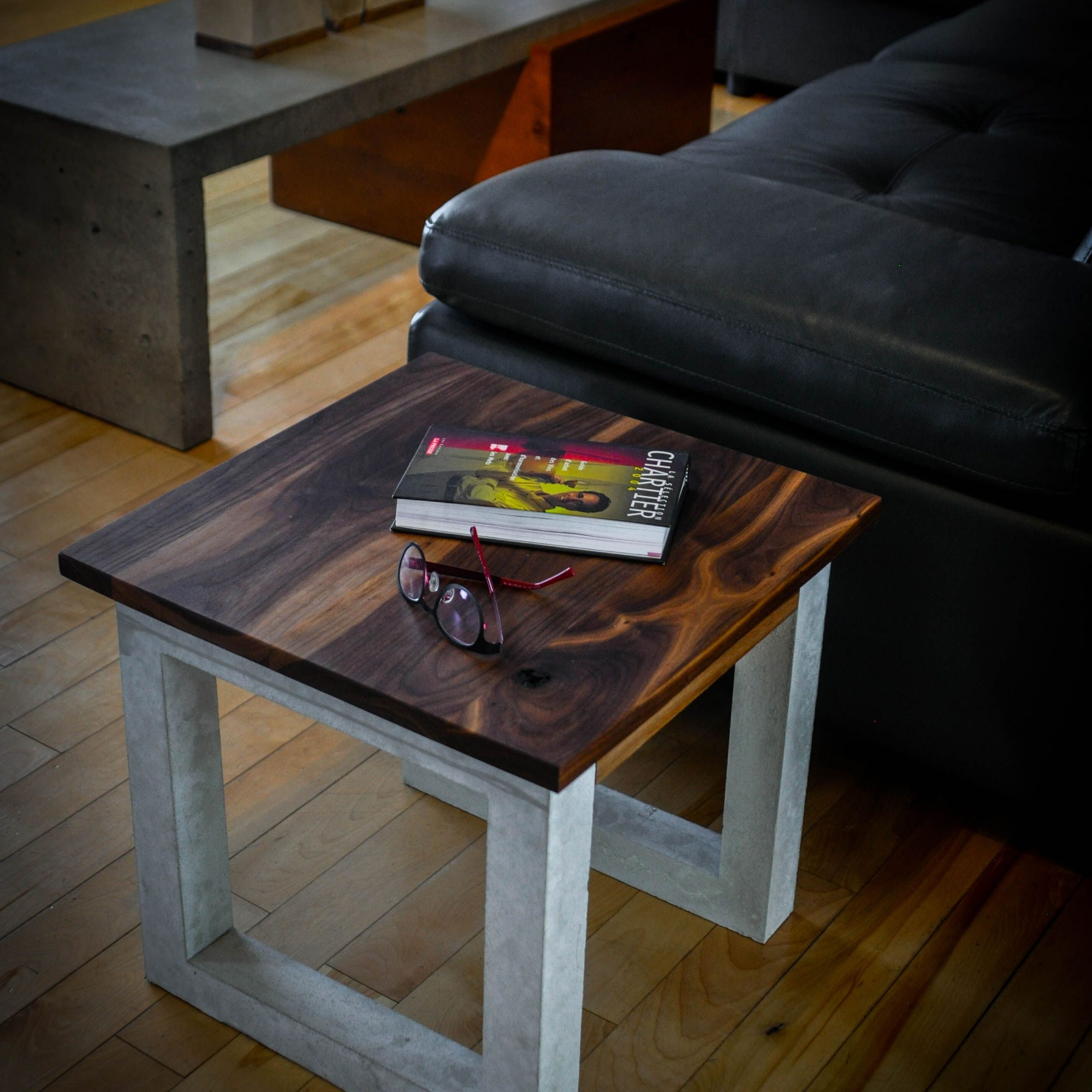 Gorgeous Walnut End Tables On Appealing Black Walnut & Concrete Side Table On Walnut End Tables