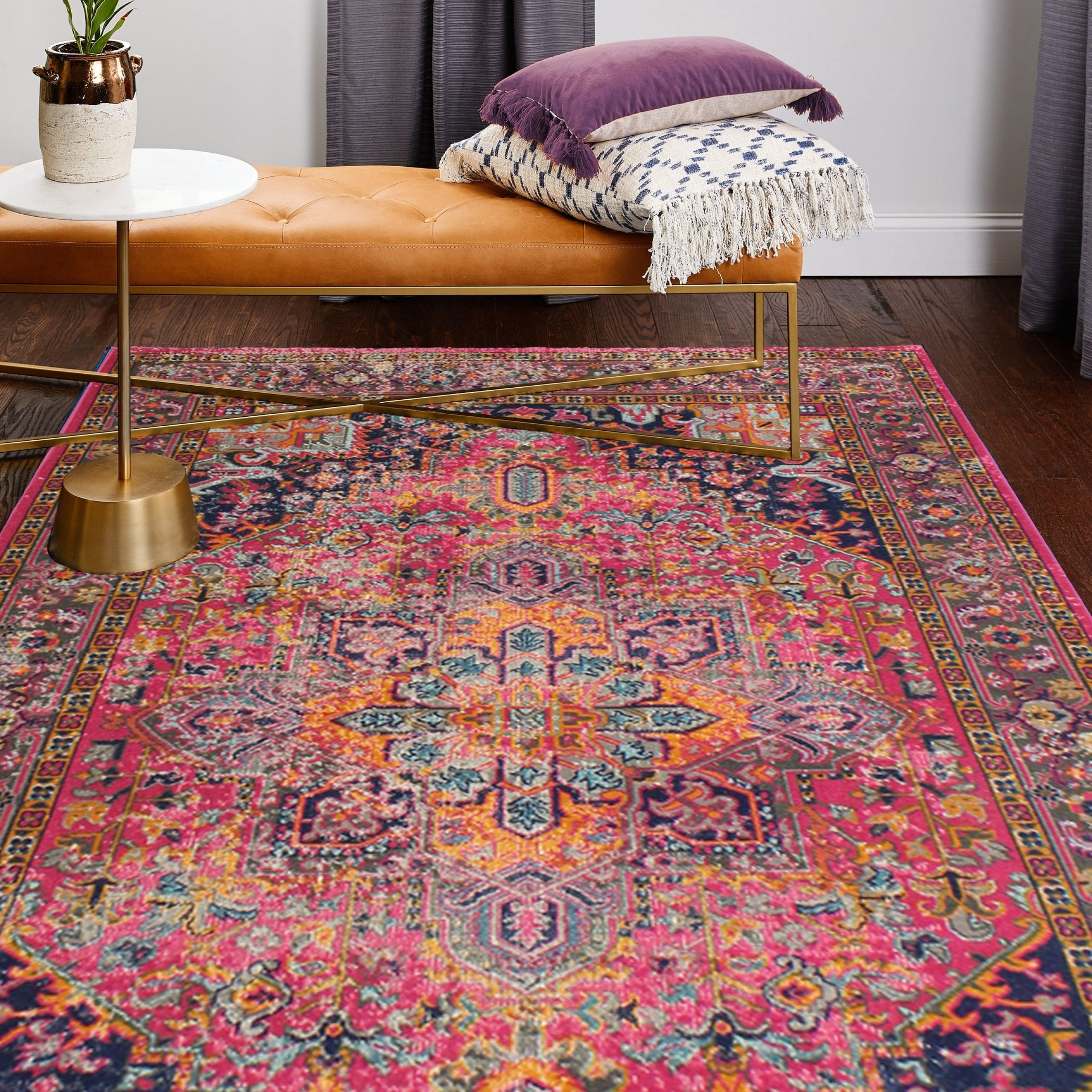 Stunning Home Decor Ideas Living Room Modern Boho area Rug with Plum Accents On Appealing Bright Boho Persian Rug Hot Pink orange Navy Blue On Home Decor Ideas Living Room Modern Boho area Rug with Plum Accents
