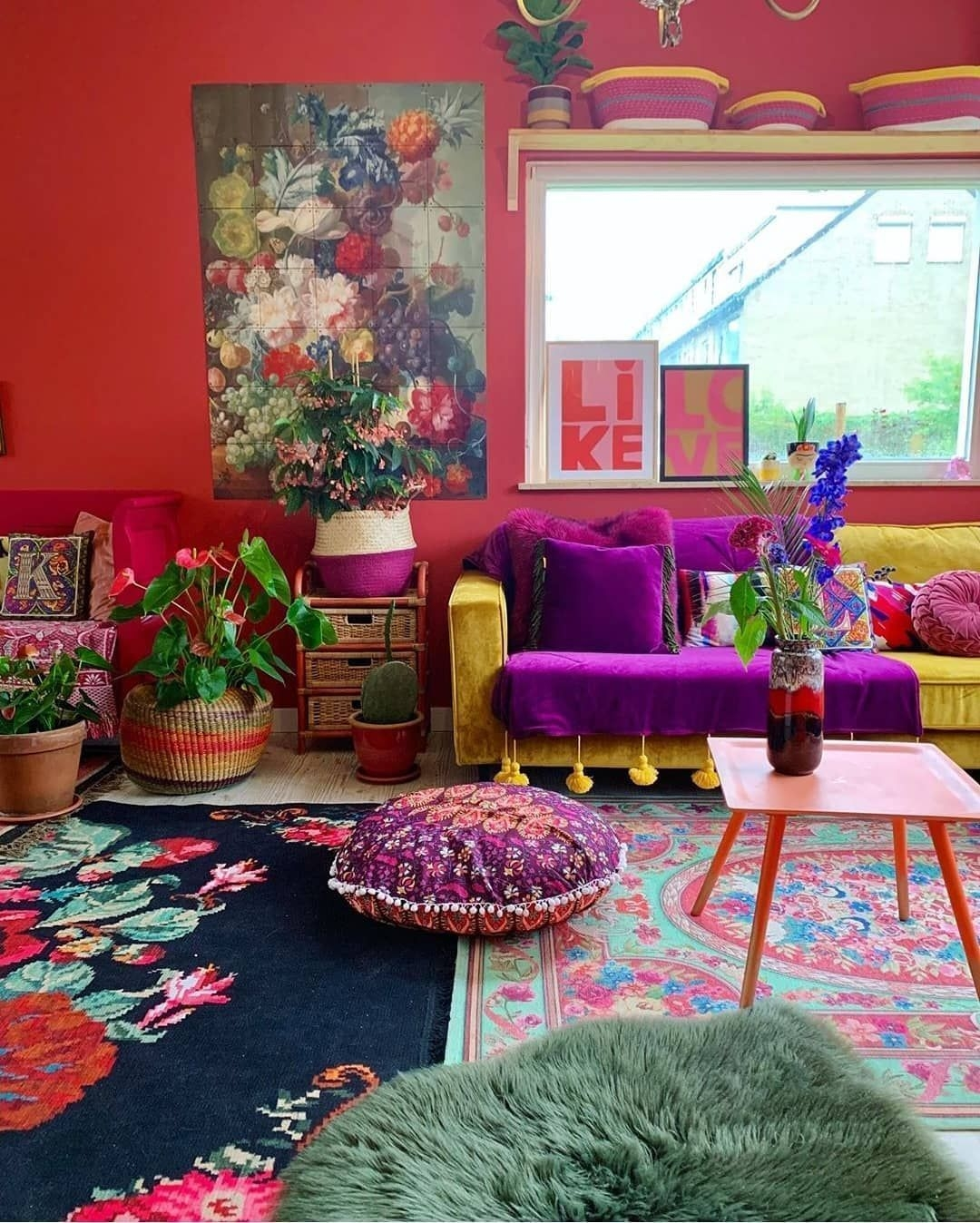 Artistic Home Decor Ideas Living Room Modern Boho area Rug with Plum Accents On Comely Pin by Shabrayle Setliff On Bright Interiors On Home Decor Ideas Living Room Modern Boho area Rug with Plum Accents