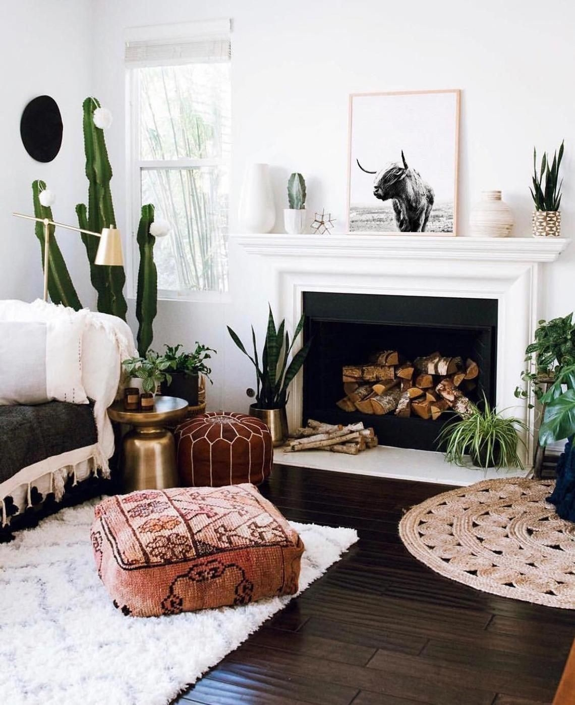 Fanciable Boho Decor Ideas for Living Room with Fireplace and Tv On Decorative Highland Cow Poster Minimalist Scandinavian northern Cattle On Boho Decor Ideas for Living Room with Fireplace and Tv