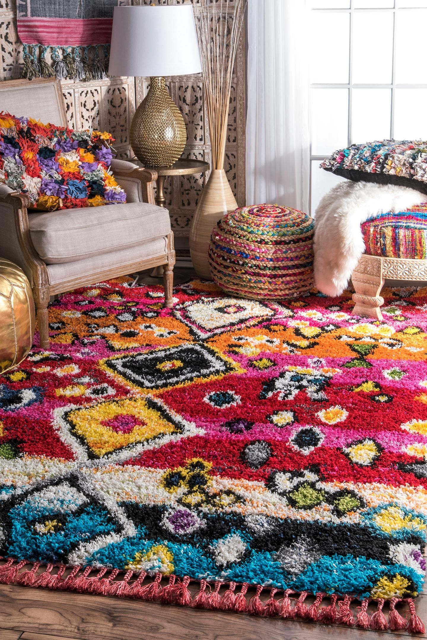 Magnificent Home Decor Ideas Living Room Modern Boho area Rug with Plum Accents On Delightful Nuloom Alane Moroccan Tassel Shaggy area Rug On Home Decor Ideas Living Room Modern Boho area Rug with Plum Accents