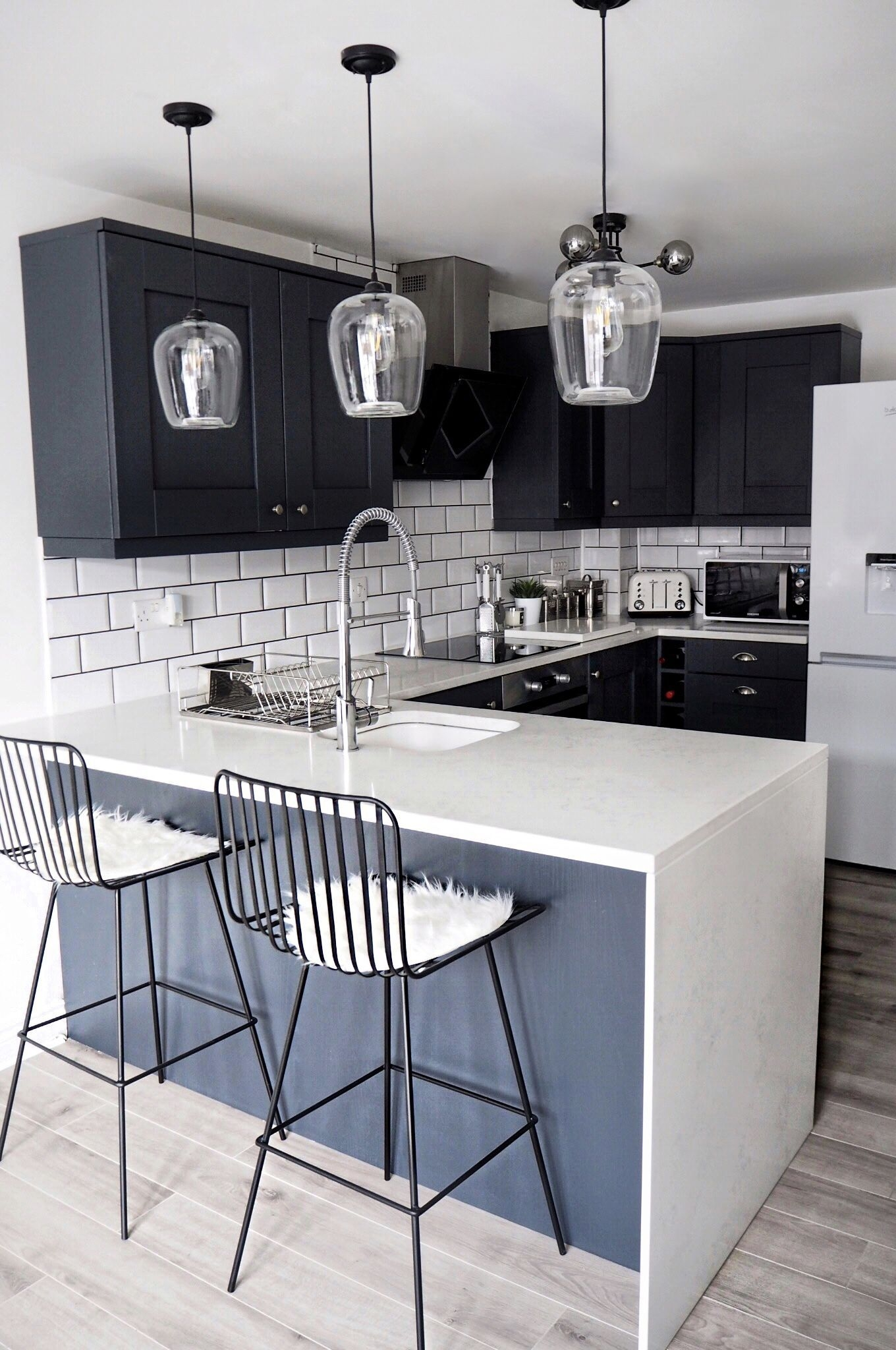 Delightful Decorating Ideas for Kitchens On Engaging Navy and White Marble Kitchen Inspo Decor Interior Ideas On Decorating Ideas for Kitchens